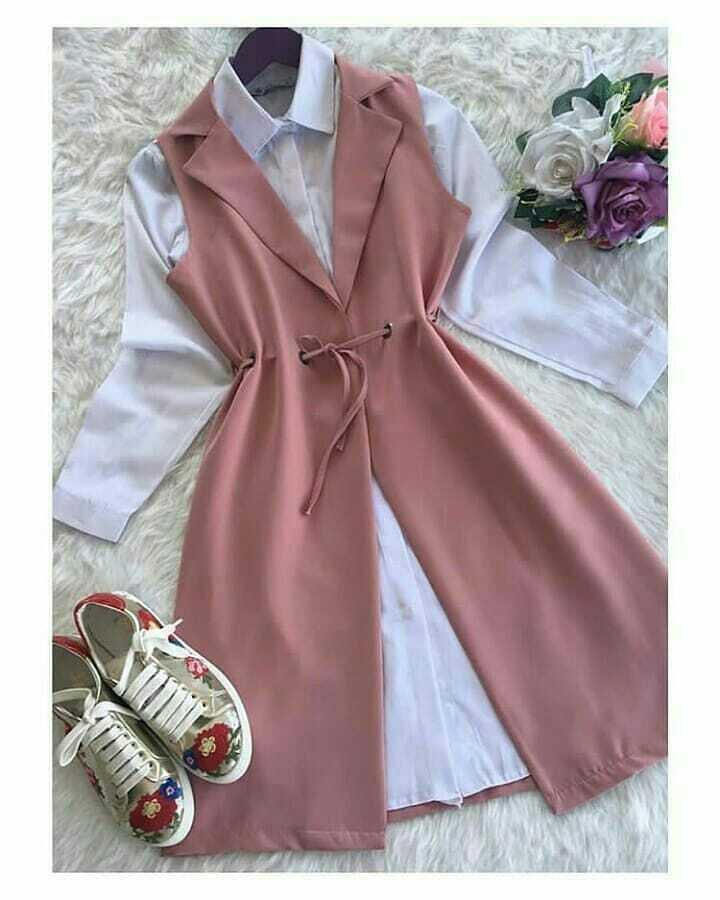 Baju Muslim Modern Blus Kenzi Set Balotelly+Wofice Panjang Blouse Casual  Hijab Tunic Pakaian Terbaru 9687c180e0