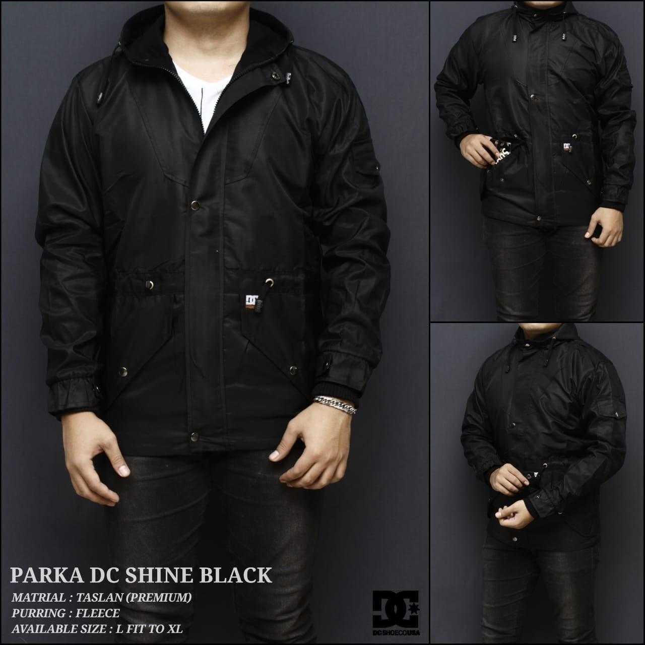 Buy Sell Cheapest Jaket Dc Parka Best Quality Product Deals Bulak Balik Ga Shine Black Keren Jl010938