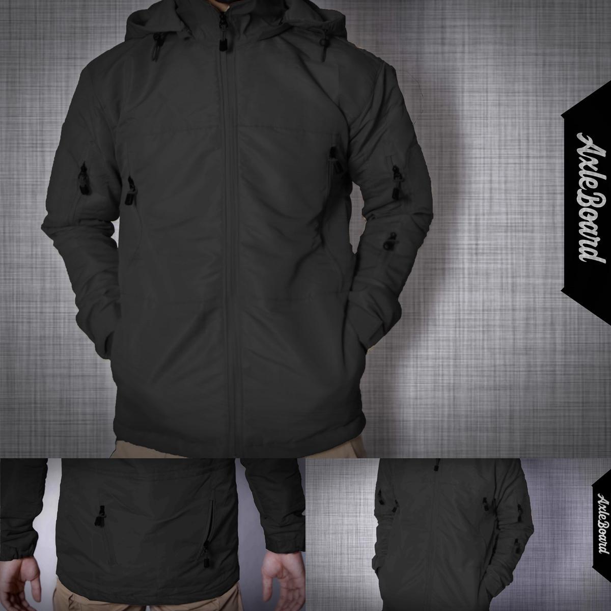 Jacket TAD Gear jaket pria casual jaket waterproof jaket anti air warna hitam bahan taslan axlestore