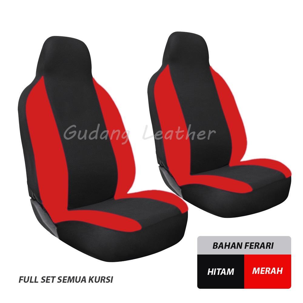 Gudang Leather Sarung Jok Mobil Suzuki Ignis (Hitam-Merah)