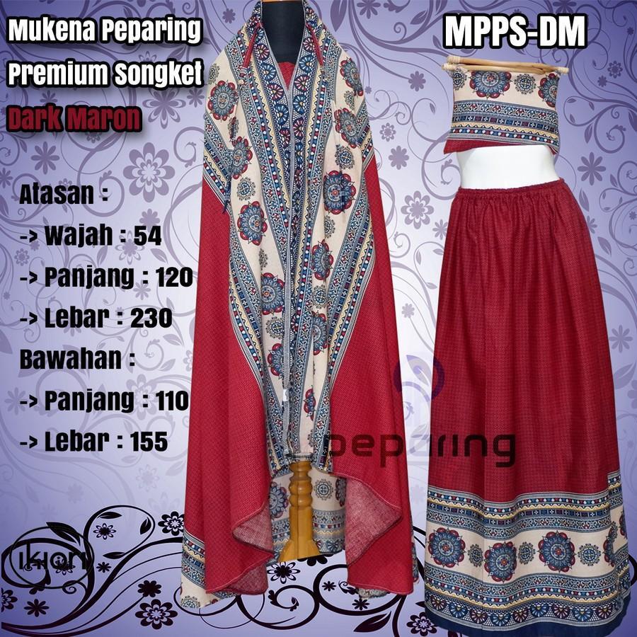 Mukena Peparing Premium Songket | Mukena Bali Songket | Mukena Etnik | Ramadhan | Lebaran (Leaf-Green)