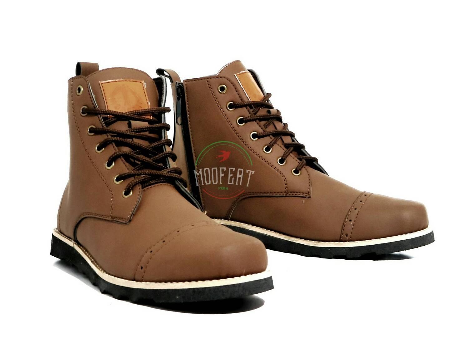 Sepatu Boots Zipper Original Moofeat Sued casual Slop Loafers sneakers nike adidas boots sekolah anak formal kets slip on slop loafers sandal kerja proyek safety shoes dinas santai kickers puma caterpillar kuliah pria dan wanita