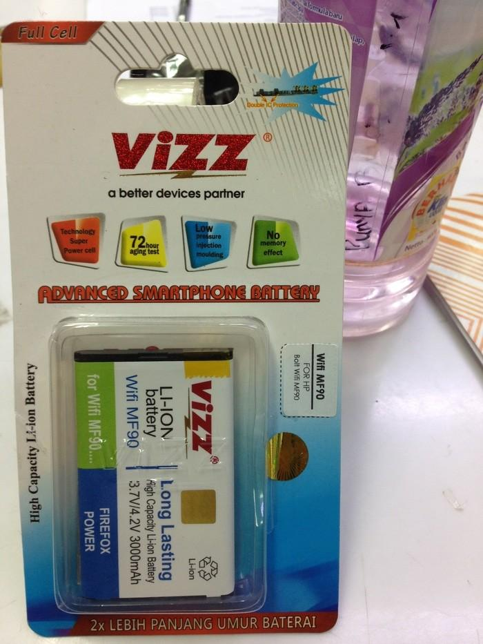 Baterai Batre Battery Wifi MF90 kapasitas 3000Mah for HP Bolt Wifi MF90 Dobel Double Power Vizz