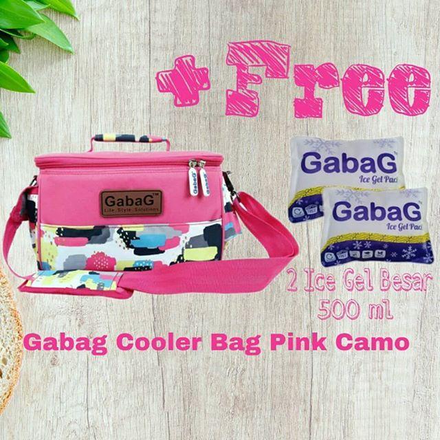 Gabag cooler bag Tas Asi Sling Pink Camo / Cactus - Coolerbag - tas penyimpan asi