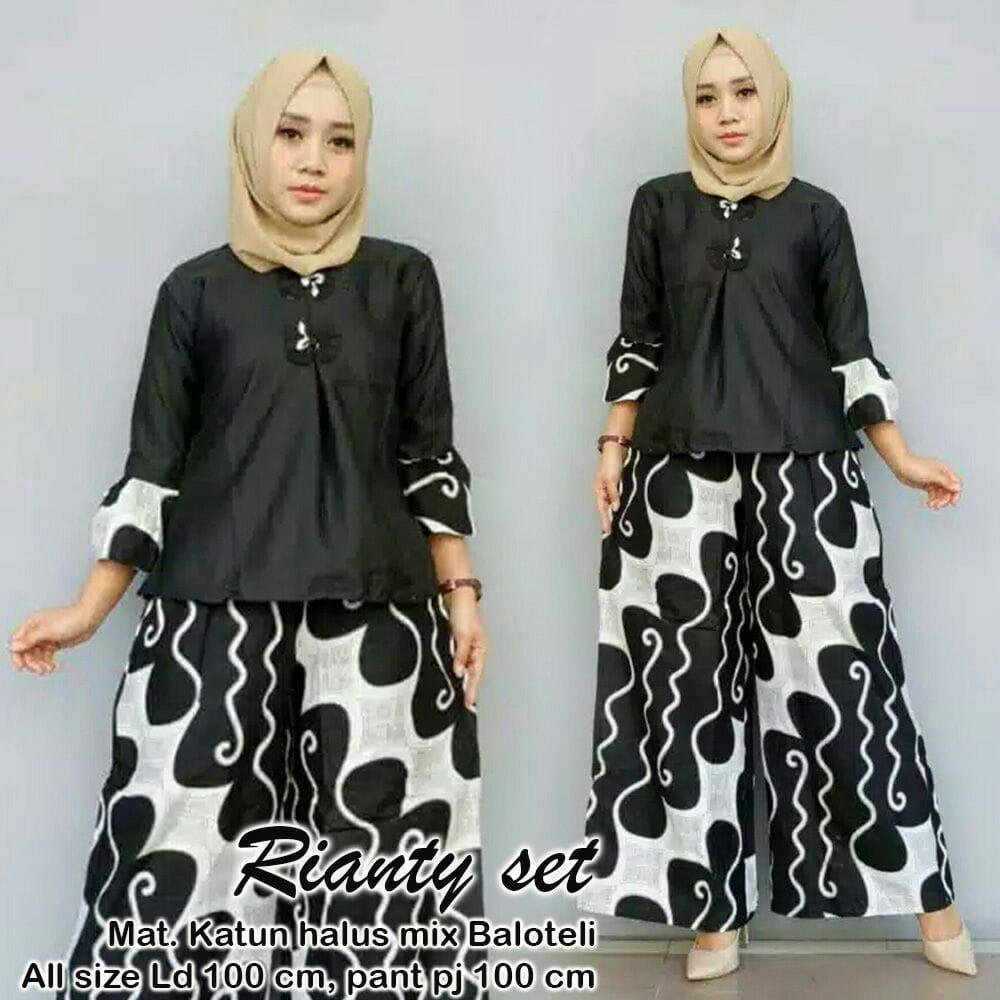 TERMURAH - Setelan Batik Wanita - Stelan Muslim Murah - Stelan Kulot Muslim  - Baju Batik b41b80d8af