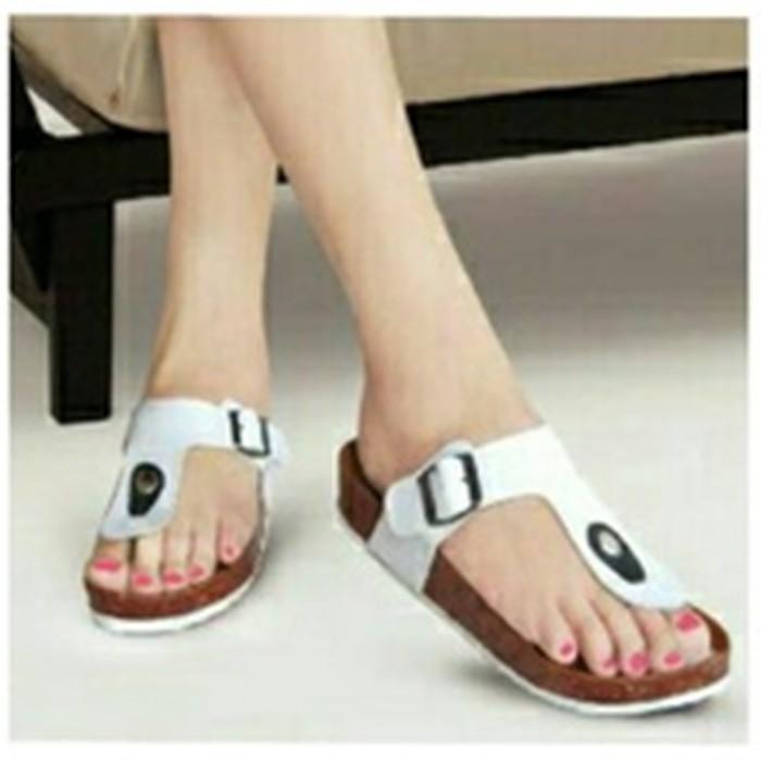 Harga Promo !!    Sendal / Sandal Jepit Carvil Santai Putih Ter-MURAH