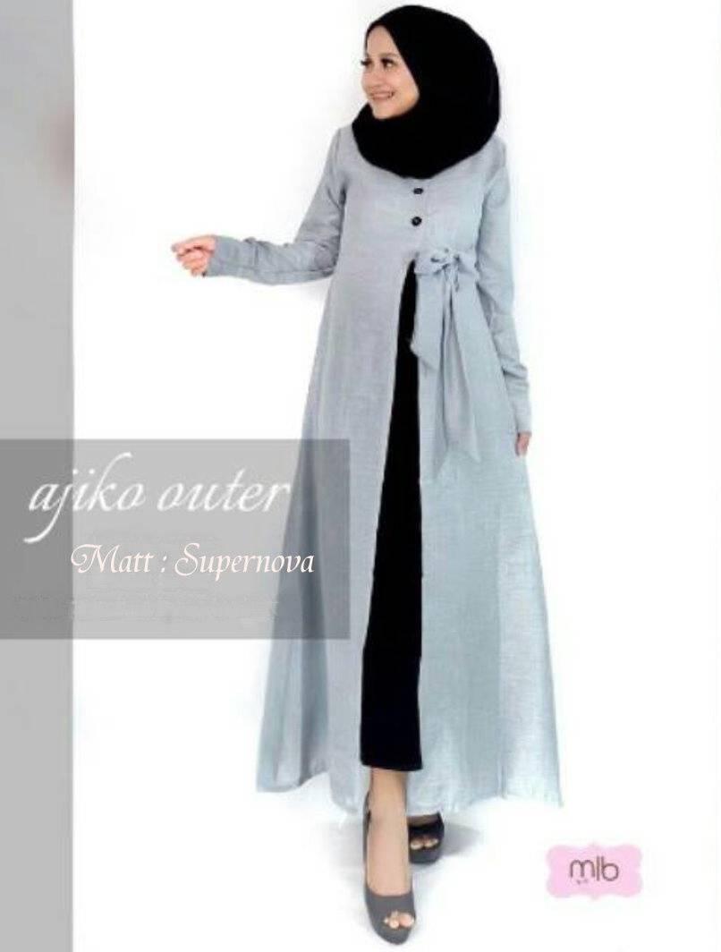 Inilah Harga Gamis Rompi Murah Terbaru 2018 Baju Atasan Blouse Wanita  A330 Gks Fashion Outer Ajiko Abu Dress Muslimah Hijab Muslim Syari Krilo