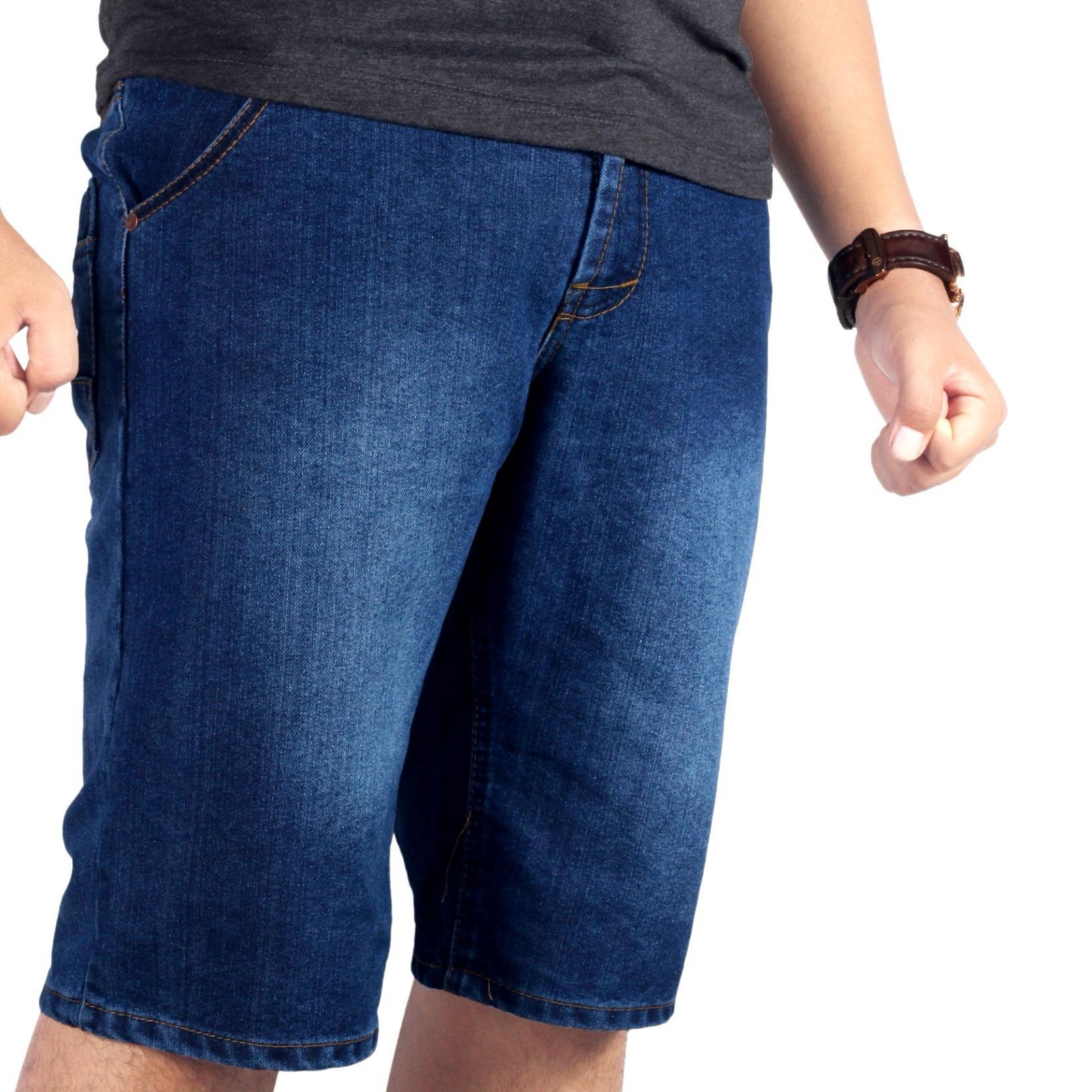 Dgm_Fashion1 Jeans Pendek Jumbo Biru/Celana Jeans Pendek Denim Jumbo /Celana lepis/Celana Jeans Skinny Pria/Celana Panjang/ Celana Pria/Celana Casual/celana denim/celana jeans gede/jeans besar /CELANA JEANS big size/Celana Big Size/Jeans Gendut AX 5523