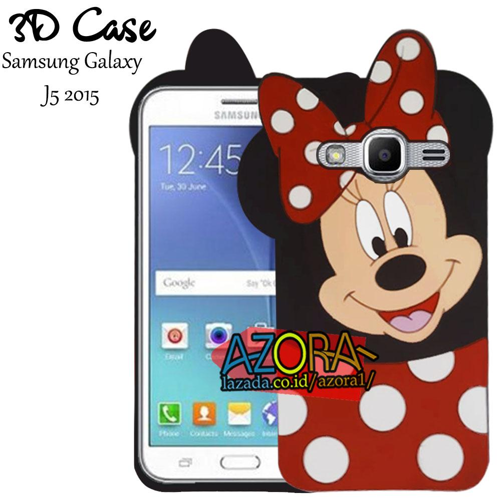 3D Case Samsung Galaxy J5 2015 Softcase 4D Karakter Boneka Mickey Mouse Lucu Character Cartoon