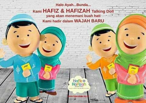 Boneka HAFIDZ HAFIDZAH TALKING DOLL new version (Bilingual)-Single