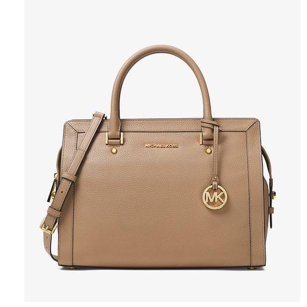 Michael Kors Collins Large Leather Khaki 30S7GIES3L Authentic Original Store. Tas Branded Wanita