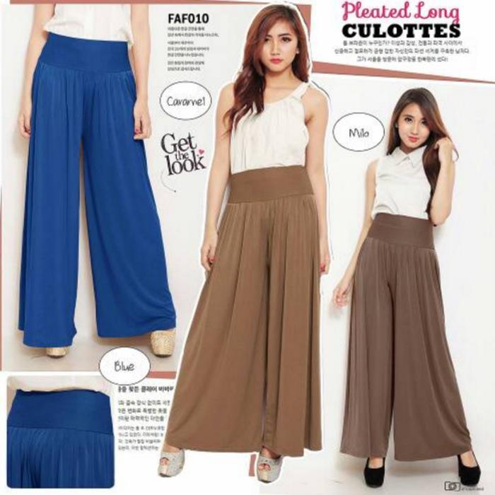 PROMO Kulot Pants Woman / Celana Kulot Panjang Bahan Spandex Korea TERLARIS