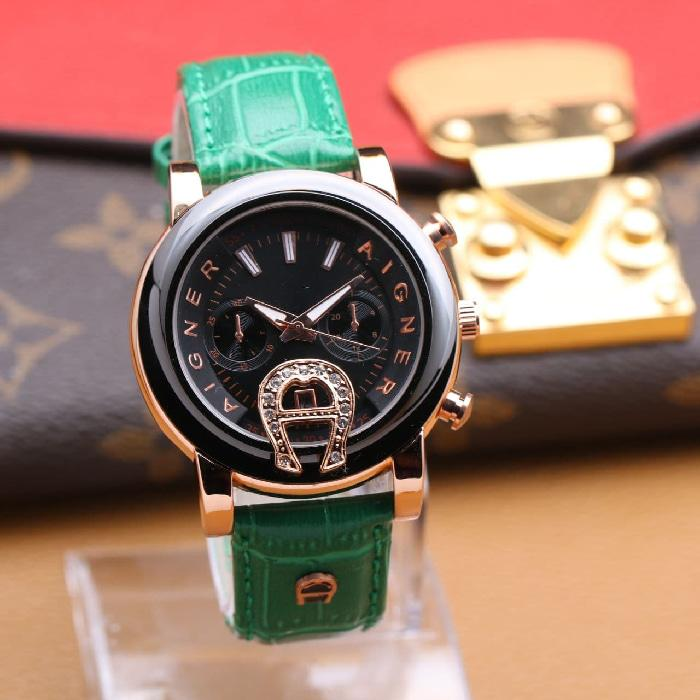 AIGNER BESAR KULIT CHRONO OFF GREEN