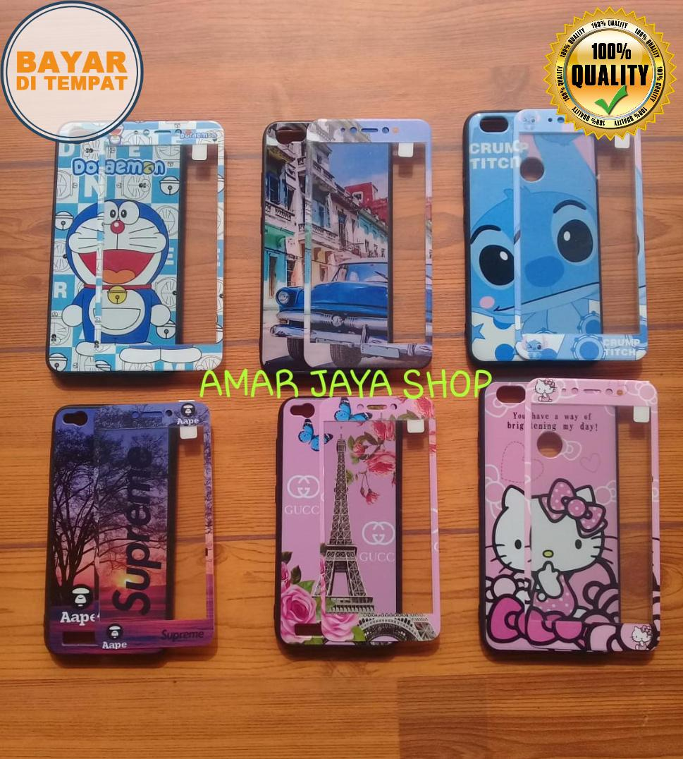 SoftCase Karakter Cantik 360 For OPPO A83   _Free Tempered Glass Motif Senada Case - (RANDOM) A J S