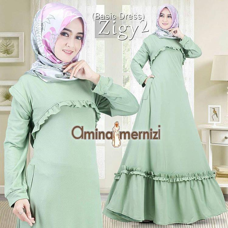 Baju Original Gamis Zigy2 Dress Balotelly Pakaian Wanita Panjang Muslim Simple Casual Fashion Baju Hijab Syar'I Modern Baju Gaun Pesta Simple Modis Trendy Baju Model Terbaru