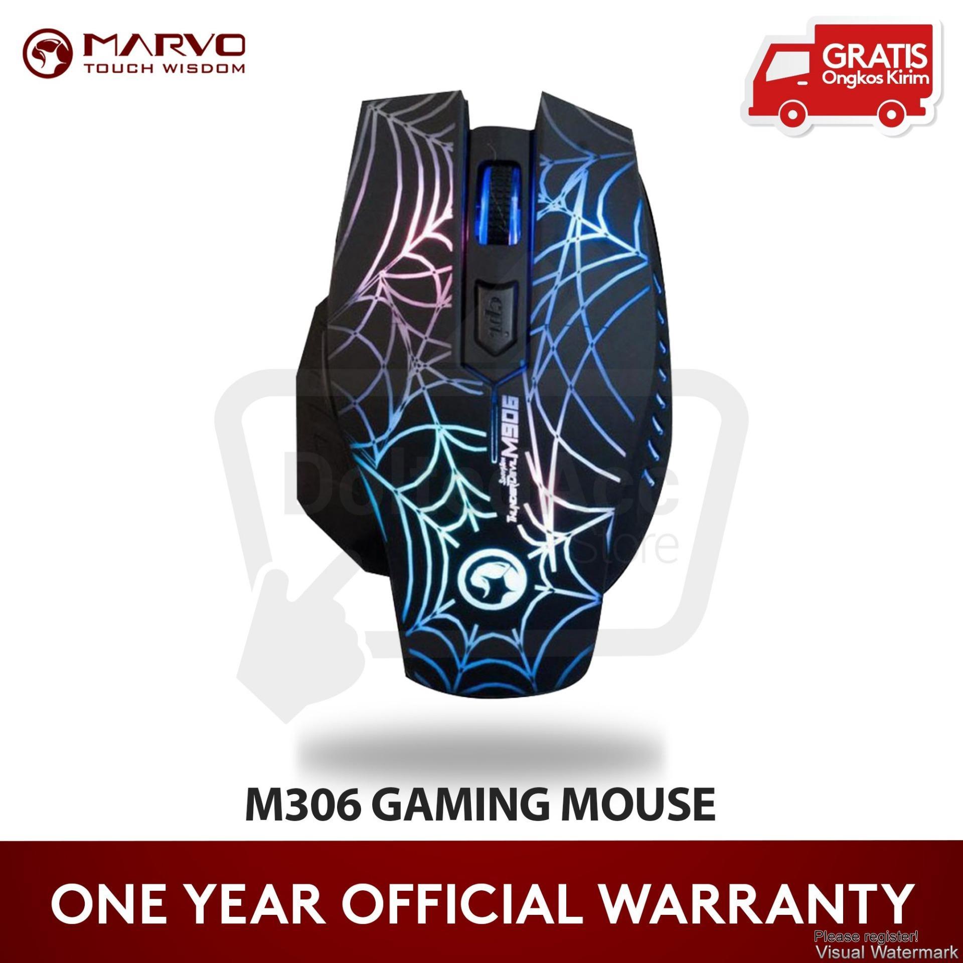 Jual Produk Marvo Terlengkap Headseet H8629 H8329 Gaming Mouse M306 6d 2400 Dpi Hitam