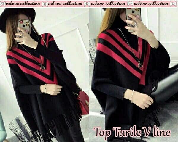 Top turtle v line /atasan wanita/ fashion wanita/ baju wanita