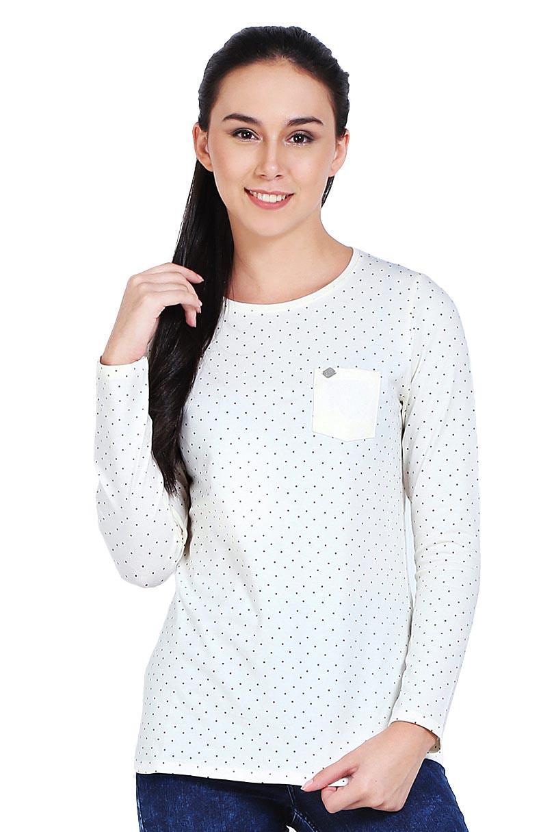 Greenlight Fashion Pakaian T-Shirt Wanita Ladies Tshirt Cream
