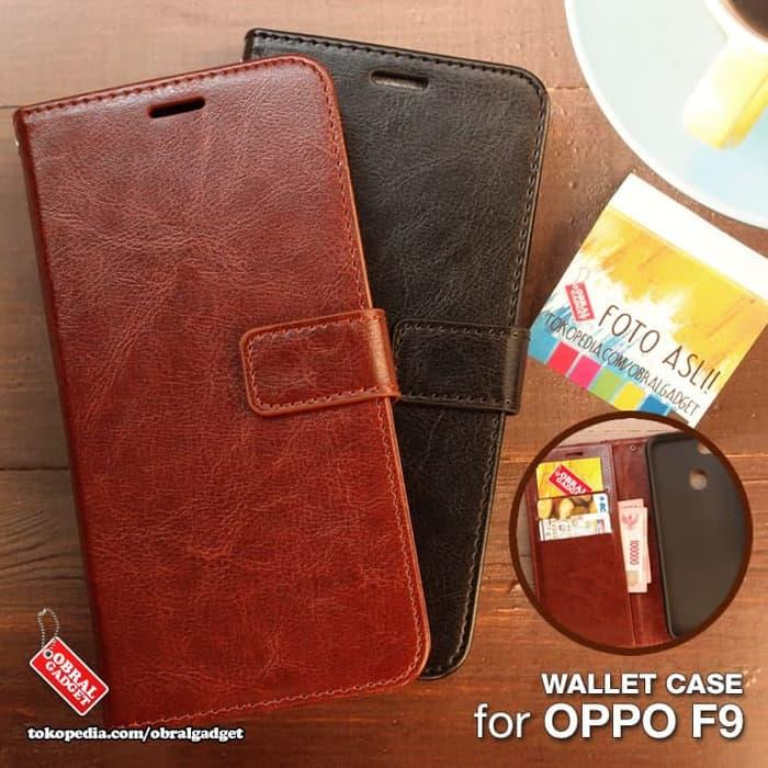 OPPO F9 Wallet Leather Flip Case Oppo F9 / Pro Flipcase Cover Flipcover Dompet