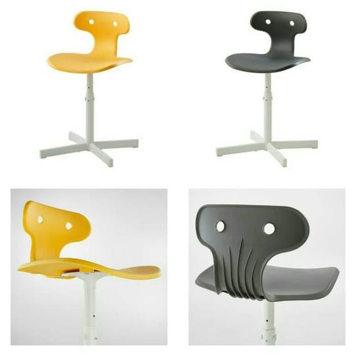 IKEA MOLTE Kursi Meja Belajar - Desk Chair Kuning / Abu2 @ meja belajar anak lipat karakter kayu lampu minimalis perempuan kecil