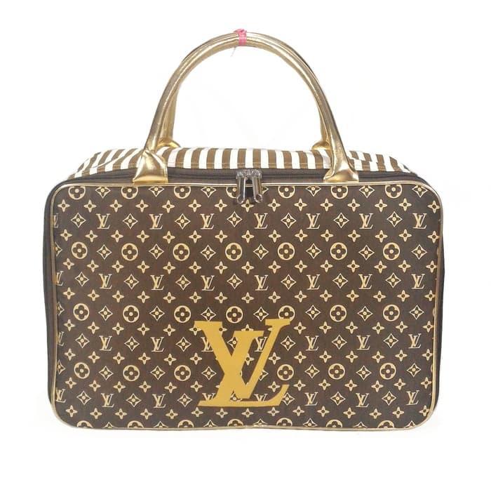 Tas Travel Bag Koper Piknik Kanvas Renang Fashion LV Original