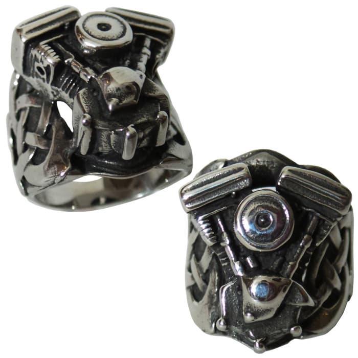 NEW PROMO Cincin titanium murah HarleyDavidson Ring Biker Jewelry VEngine