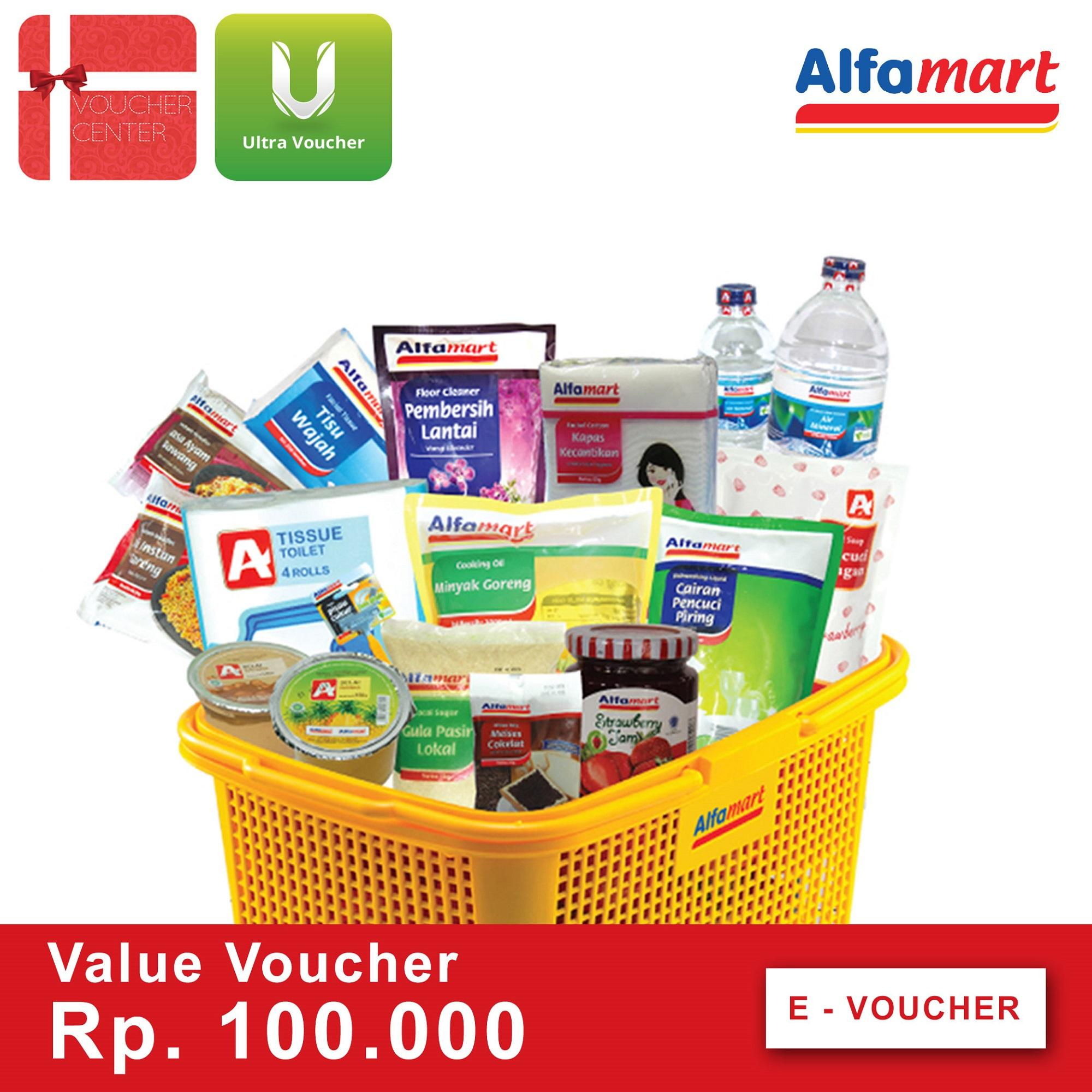 Voucher Alfamart Rp 100.000 - Digital Code By I-Voucher Center.