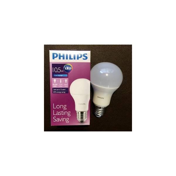 NEW LED PHILIPS 10-5W PUTIH COOL DAYLIGHT Lampu Bulb 10.5W Hemat Murah