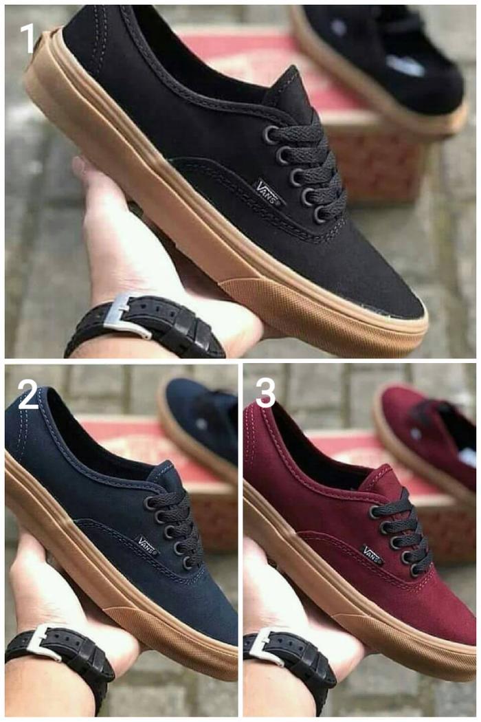 HOT SPESIAL!!! Vans Authentic Gum Premium Original / Sepatu Kets / Sepatu Kerja