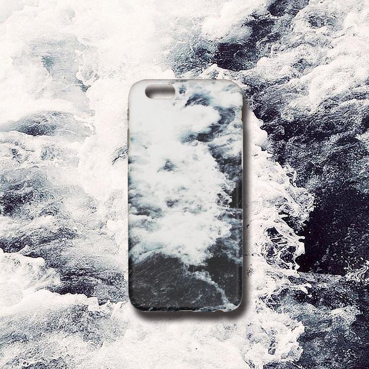 Selubung Ponsel Apel Cangkang 6 Plus/7 Plus/8 Plus Sastra Ombak Asli Iphone