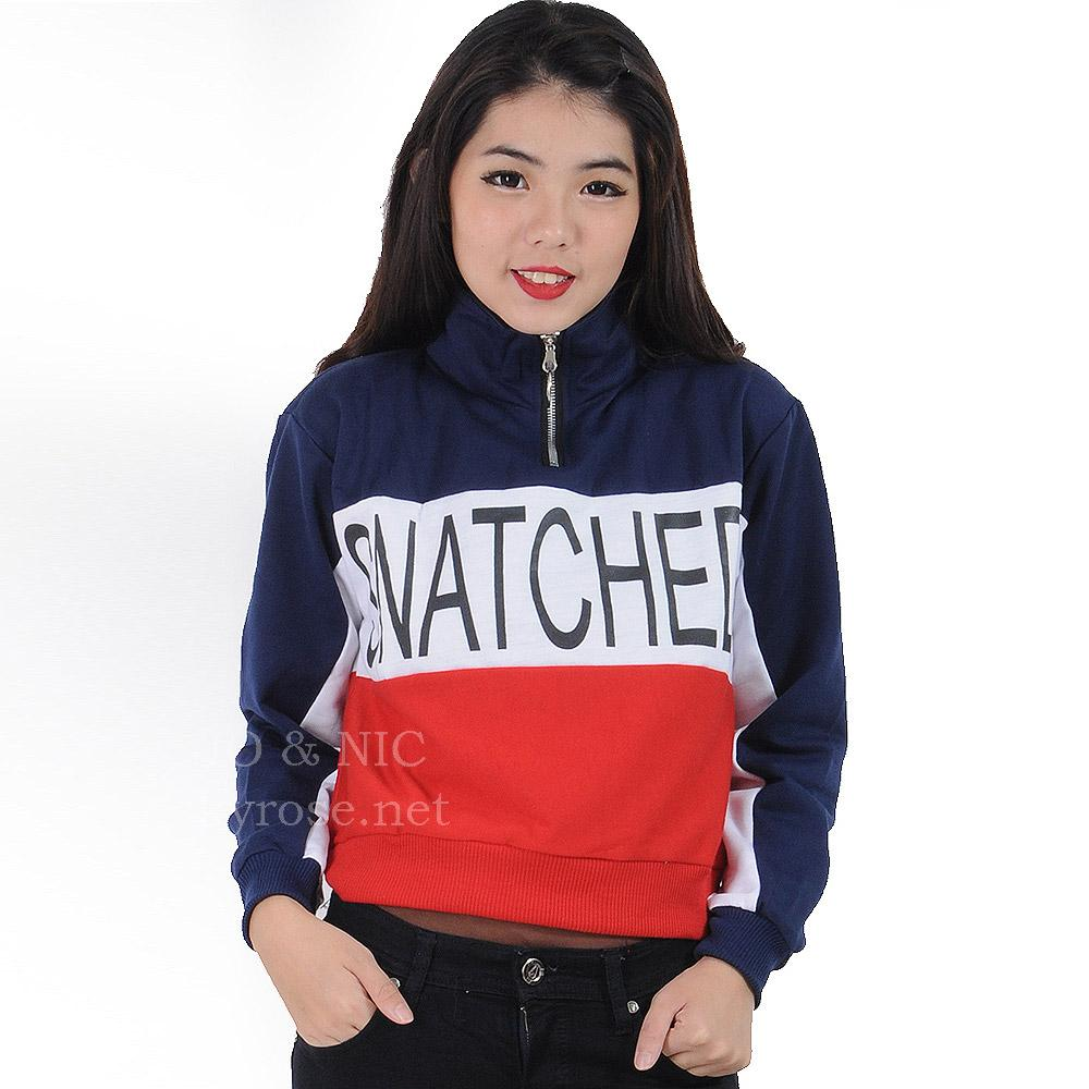 Buy Sell Cheapest Jo Retro Besar Best Quality Product Deals Marina Ribbon Longsleeve Top Sr0410 01 Cropped Zip Up Sweatshirt Snatched Okay Sweater Jaket Wanita Allsize