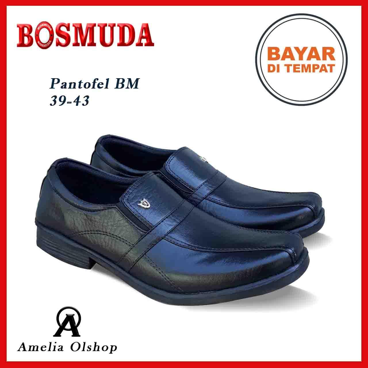 Amelia Olshop - Promo Sepatu Pantofel BOSMUDA   Sepatu Pantofel   Sepatu  Pria   Sepatu Pantofel 1a135422c9