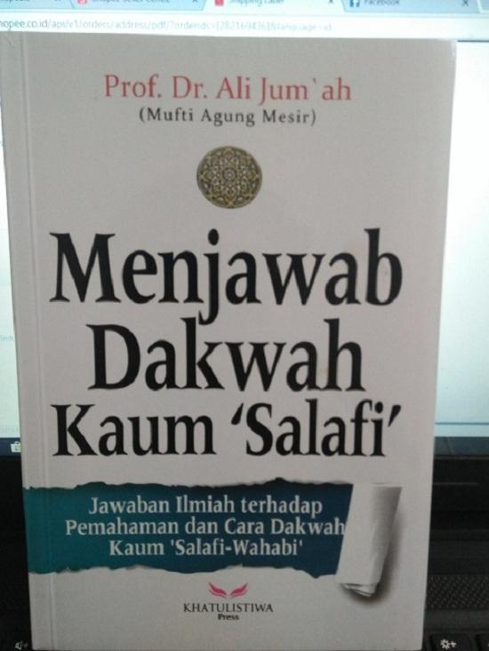 Menjawab Dakwah Kaum Salafi - Ali Jumah By Metro Bookstore Malang.
