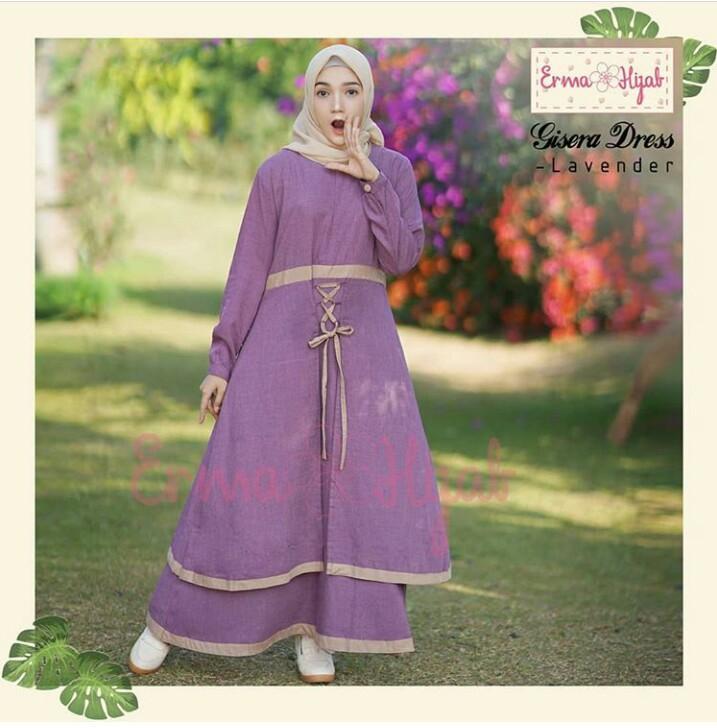 Baju Murah Terbaru Gamis Gisera Dress Balotelly Baju Wanita Gamis Baju  Terusan Panjang Baju Kerja Gaun 011d02b33d
