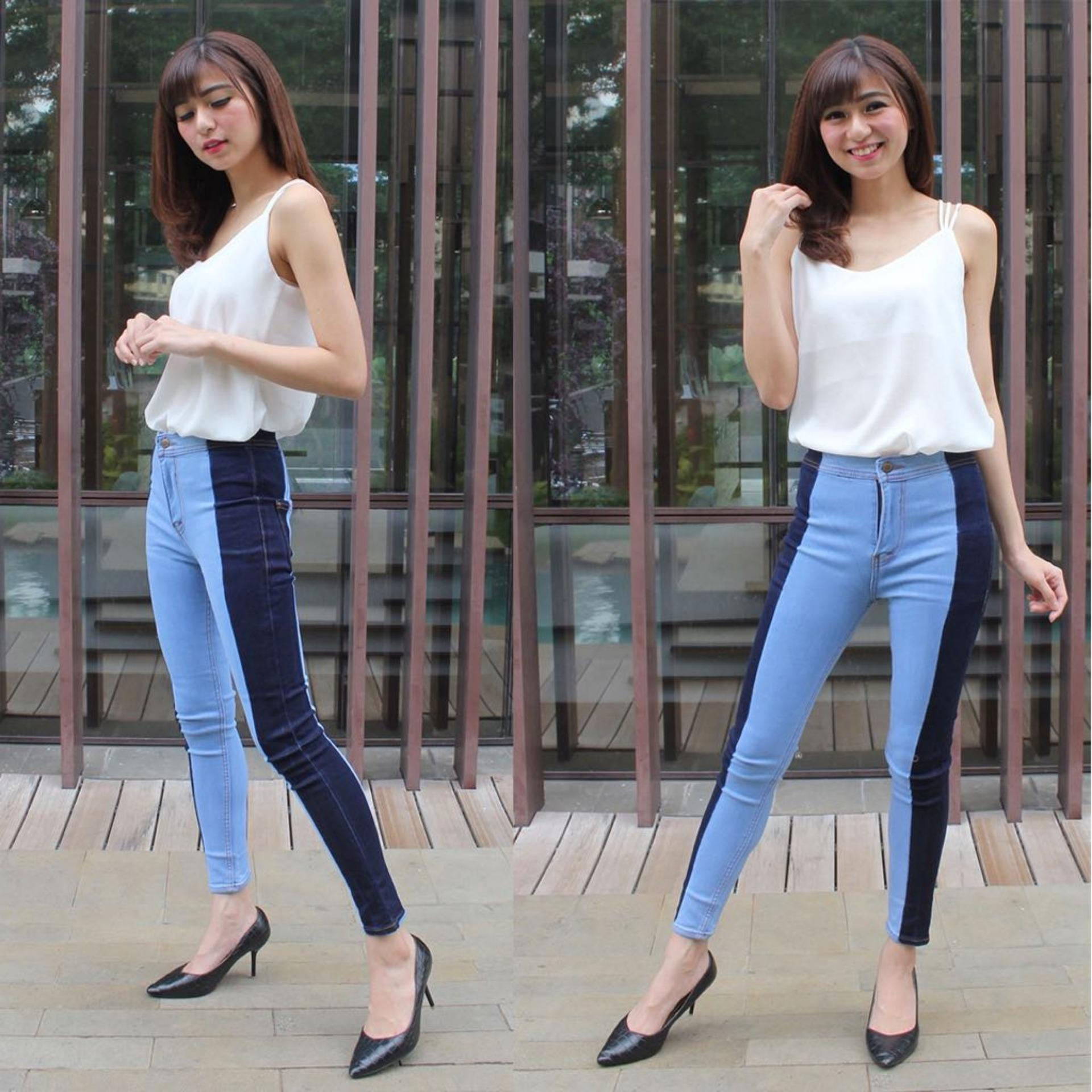 Vrichel Collection Celana Jeans / Celana Panjang Highwaist Skinny Jeans Pinny HW LIST Premium