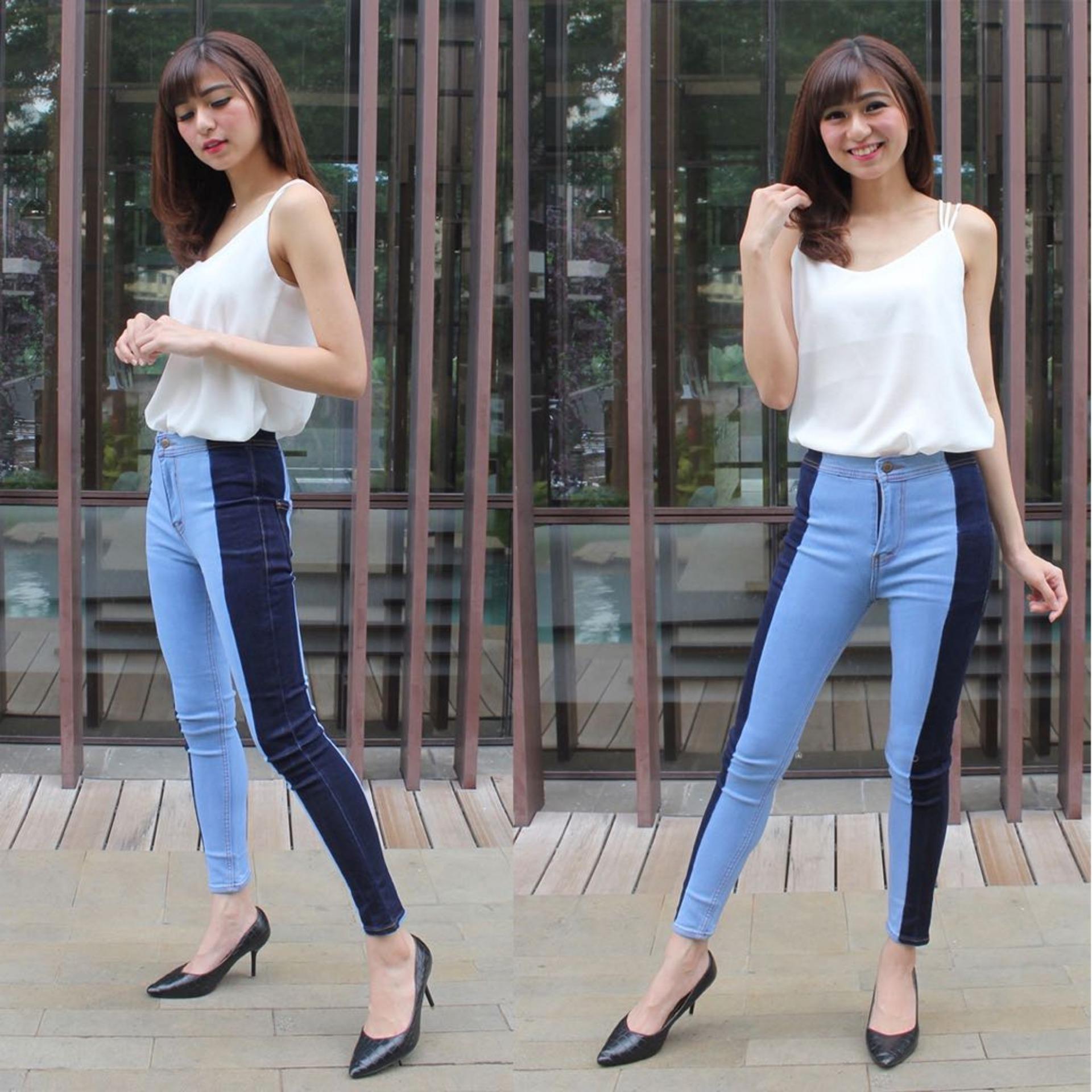Vrichel Collection Celana Jeans / Celana Panjang Highwaist Skinny Jeans Pinny HW LIST Premium