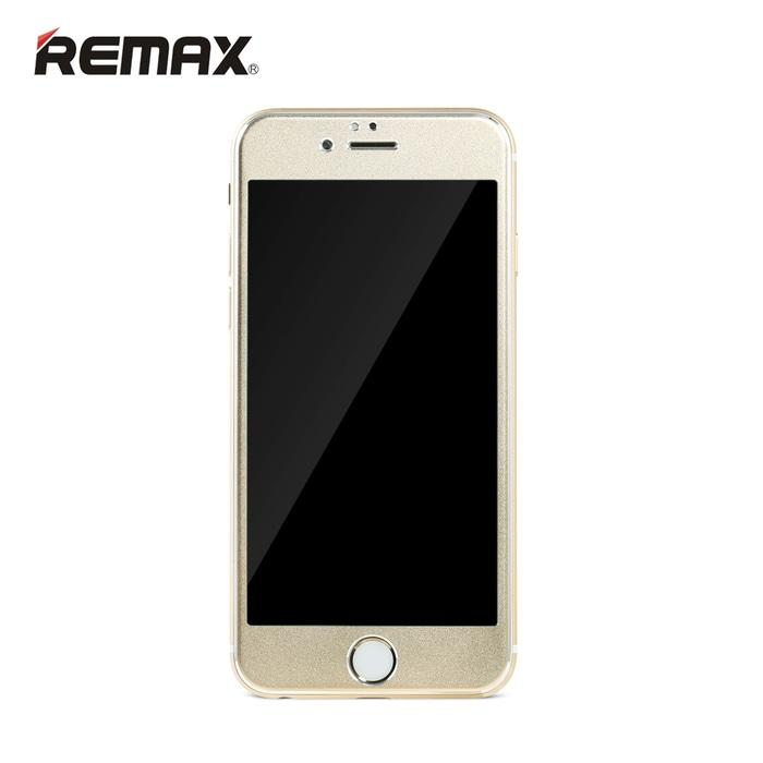 REMAX Metal + Steel Tempered Glass Gentry Series Iphone 6S Plus Golden