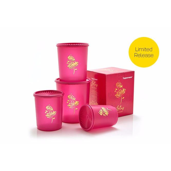 Tupperware Deco Canister - 4pcs/set