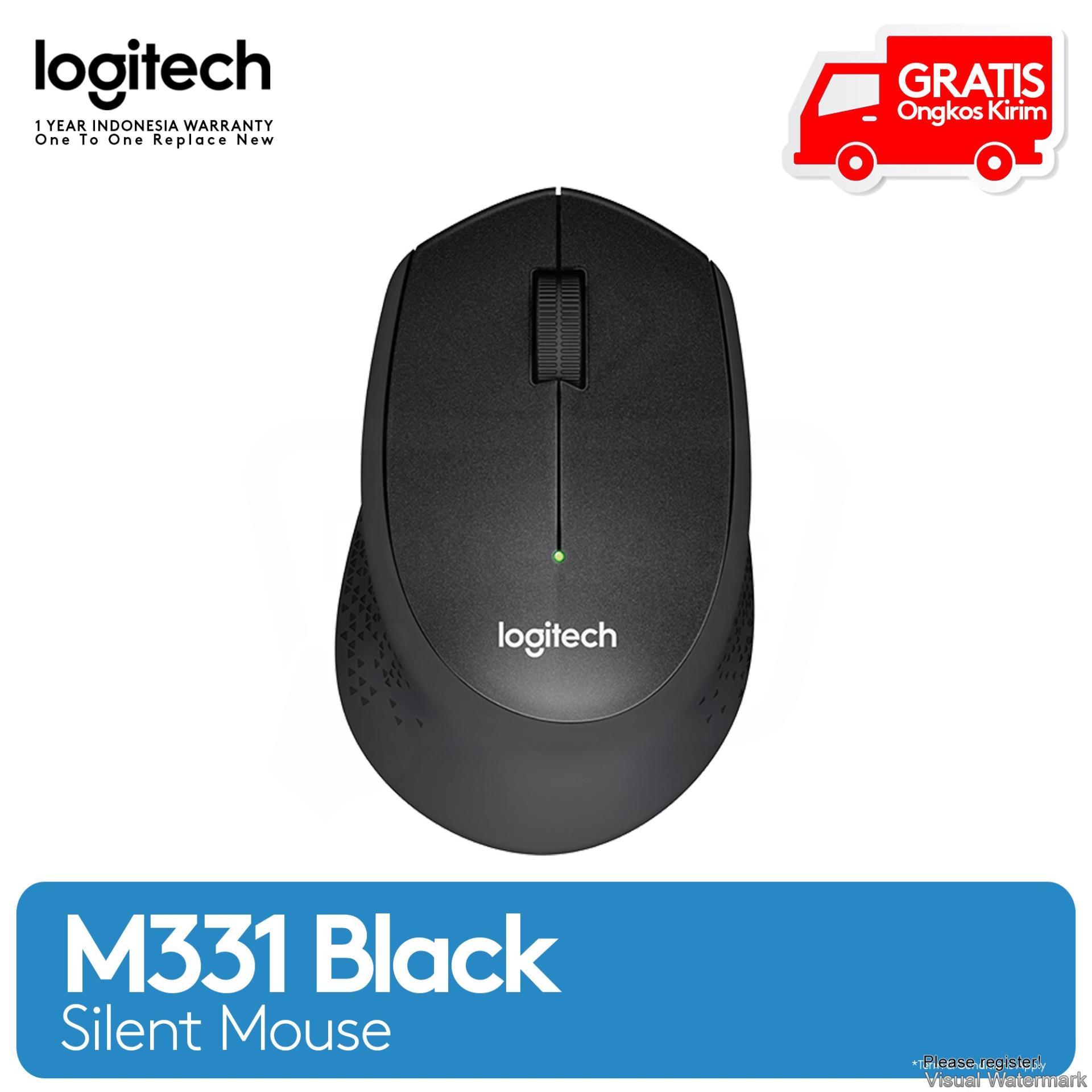 Logitech M331 Silent Wireless Mouse - Hitam