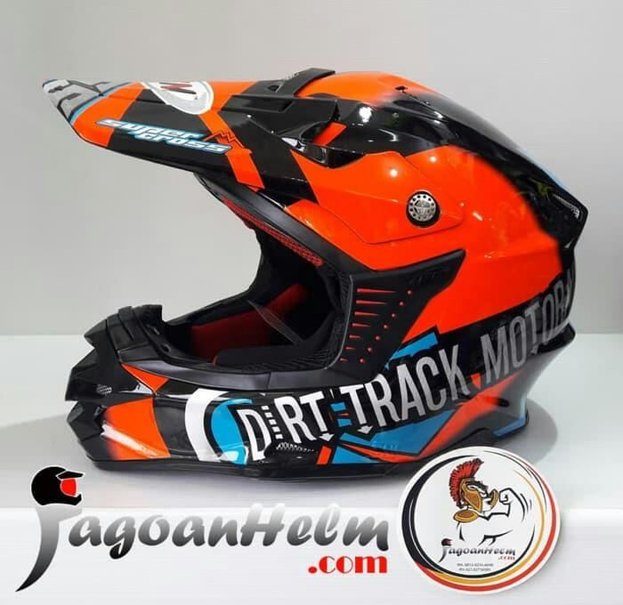 GM HELM RX BLACK ORANGE / SUPER CROSS TRAIL