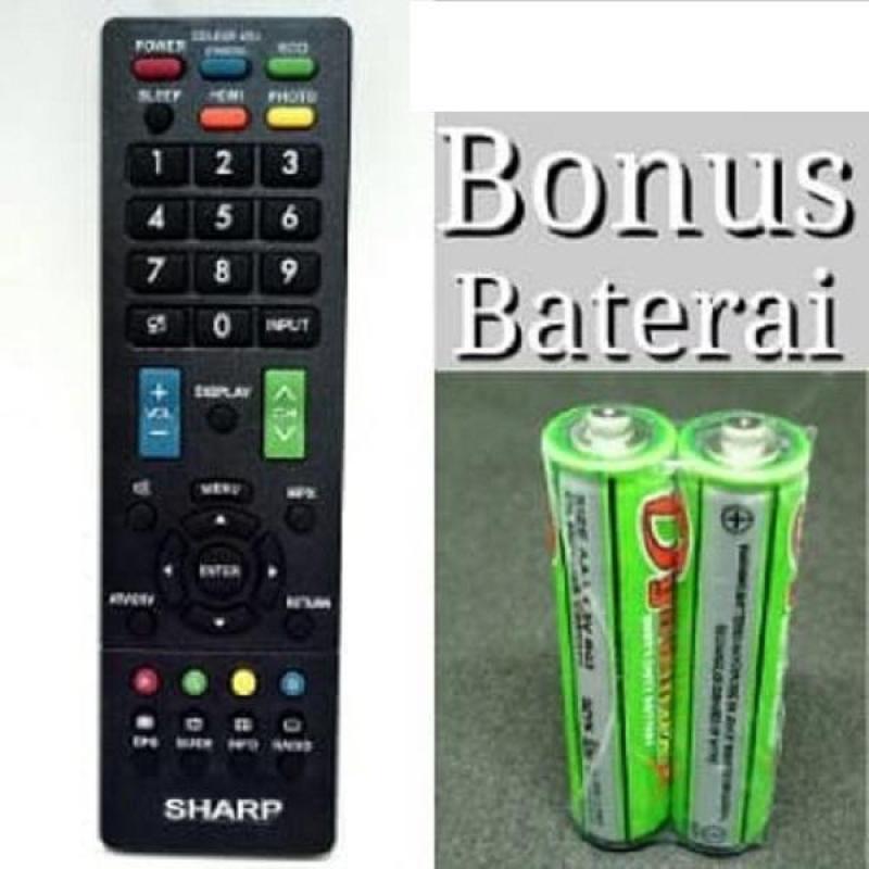 Sharp Remote LCD/LED cocok untuk semua tv led sharp Bonus Batterai
