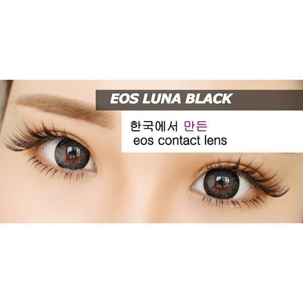 Promo Acessoris Warna Mata Softlens EOS Luna Black (Hitam)