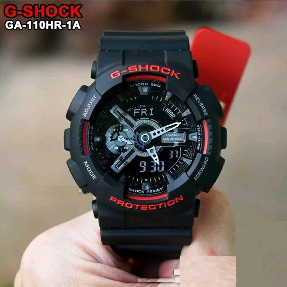 Jam Tangan Casio G Shock Original Ga 110hr 1adr Black List Red