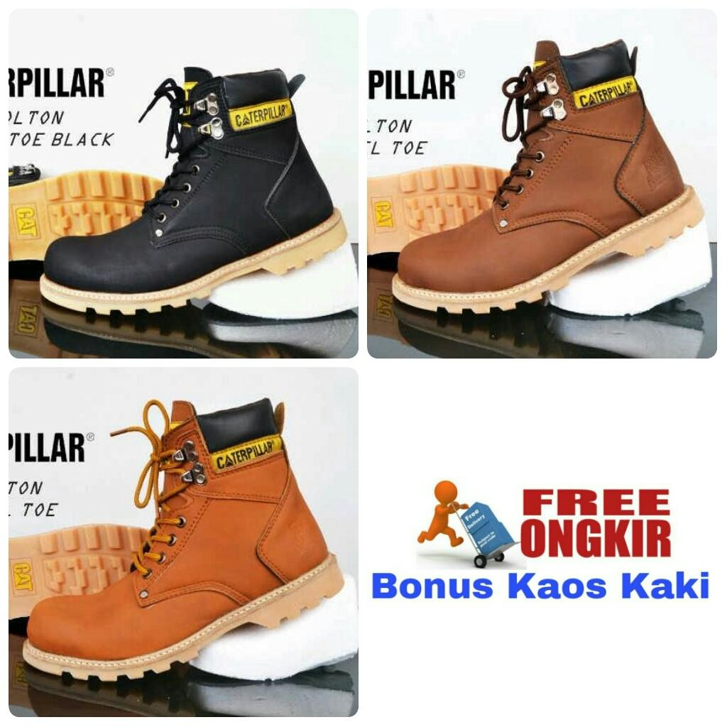 Buy Sell Cheapest Caterpillar Holton Safety Best Quality Product Sepatu Boots Promo Free Ongkir Bonus Kaos Kaki Diskon