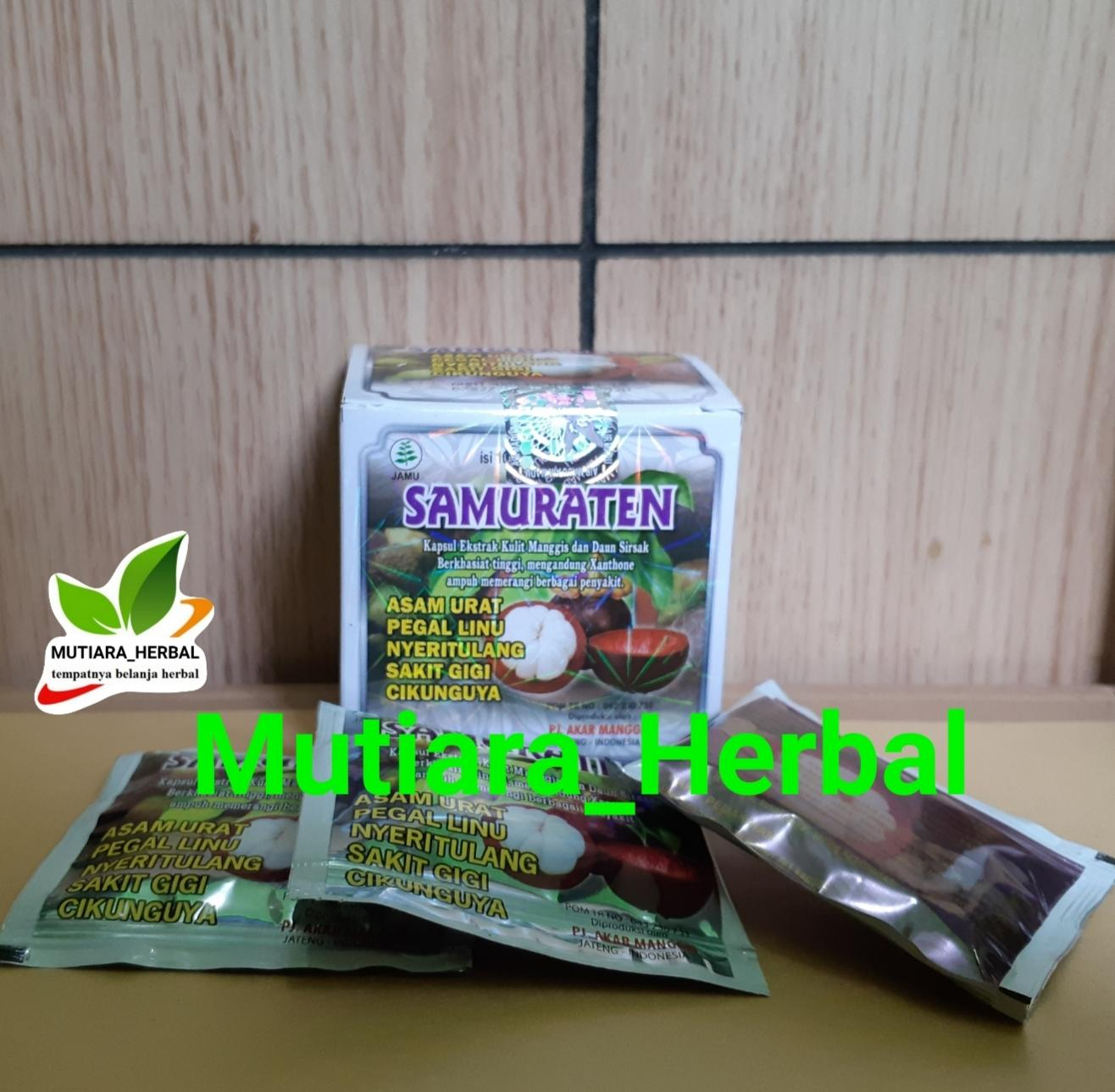 Buy Sell Cheapest Kapsul Asam Urat Best Quality Product Deals Herbal Linu Samuraten Putih Original