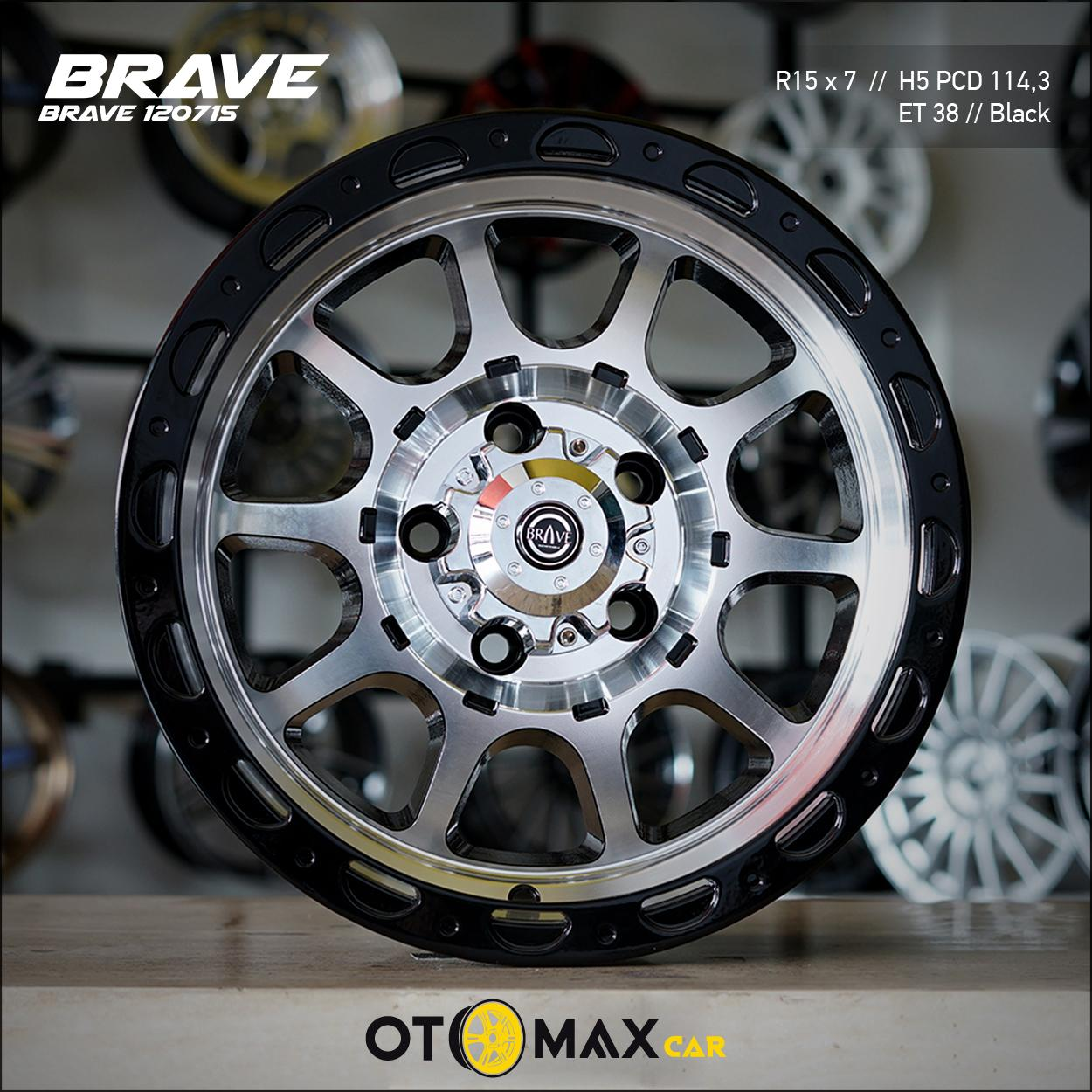 Velg Mobil Brave (120715) Ring 15 Black Polish