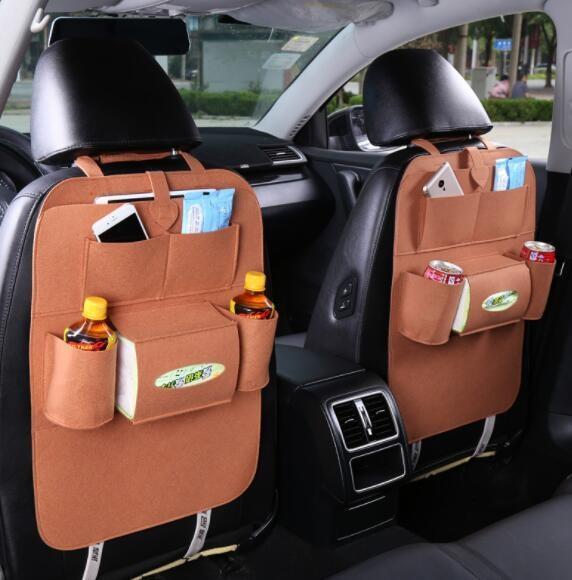 283 Car seat organizer Barang Tas Gantungan Kursi Mobil Multifungsi dipasang di Belakang Jok - Coffee