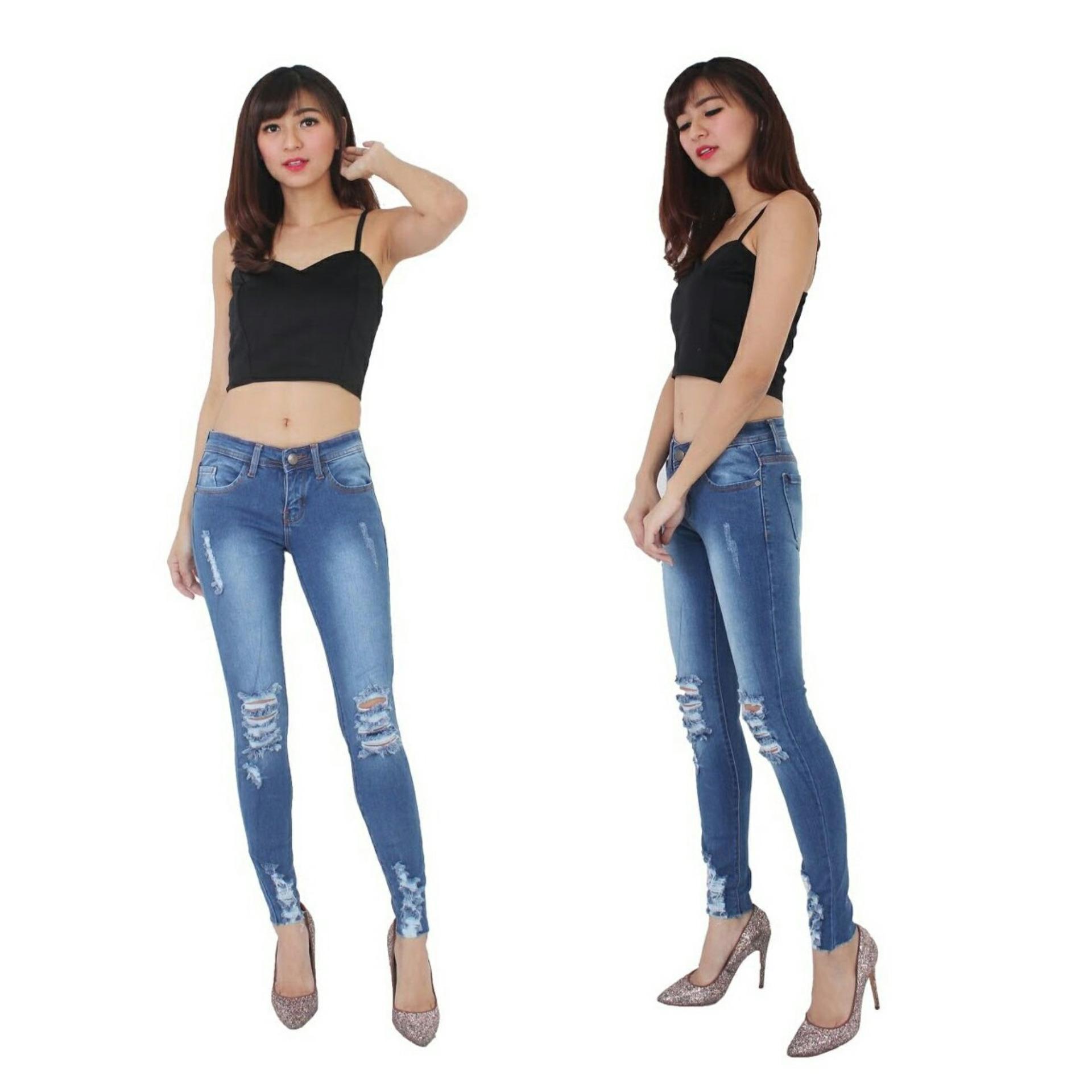 Jual Amazara Evelyn White Sneakers Harga Rp 273000 Putih 40 Celana Jeans Wanita Fashionable Good Quality Ripped