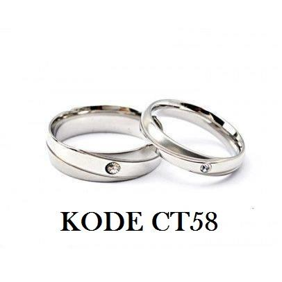Cincin Titanium Anti Karat Selamanya Ct58 (satuan) By Pusat Grosir Aksesoris.