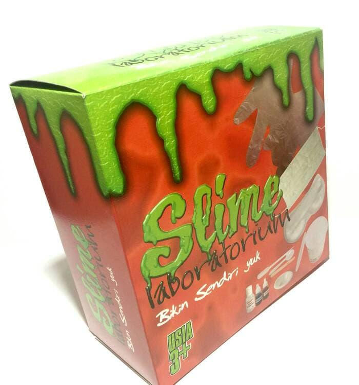 BEST SELLER!!! Slime Lab Slime Laboratorium Dus Eksklusif Slime Kit Set Murah Slaim - EeFz4S